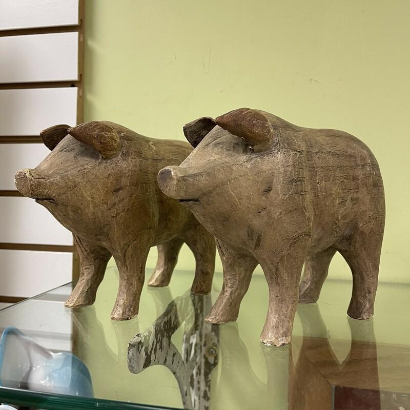 Pair Ceramic Pigs
