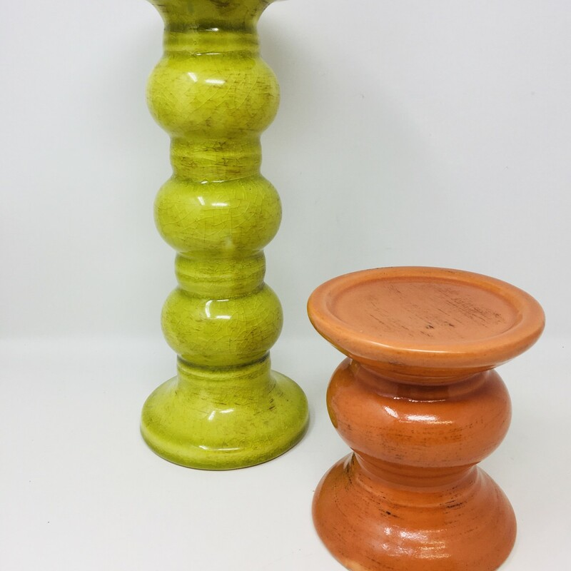 2 Color Candle Holders