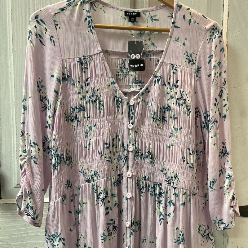 NWT Pink Floral Top