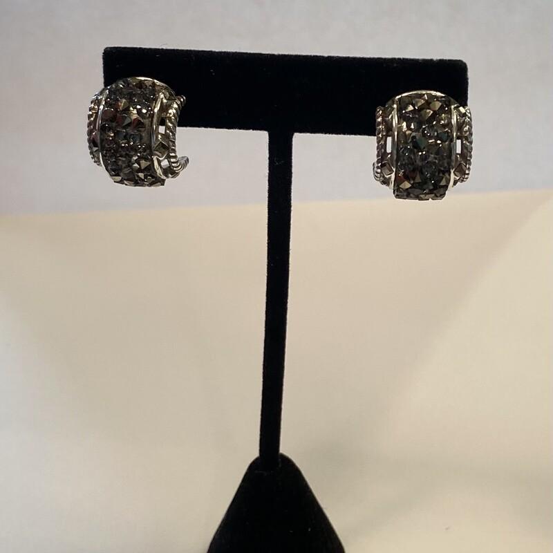 Slv Crystal Drzy Earrings