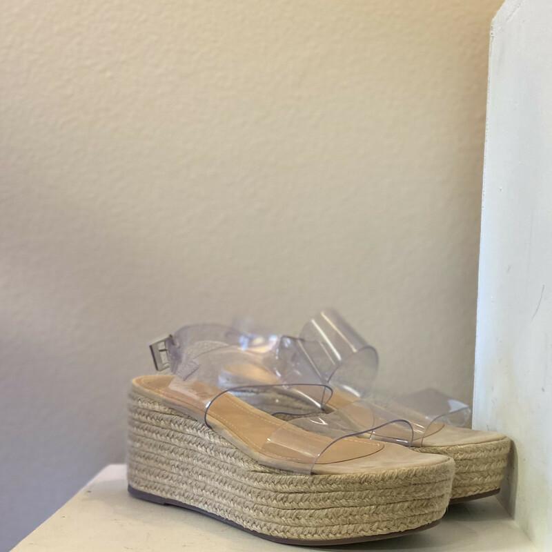 Clear Wedge Sandal