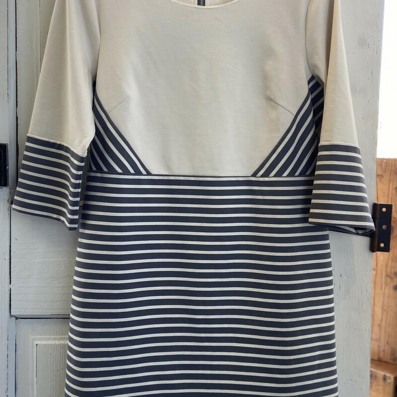 Crm/gry Stripe Dress