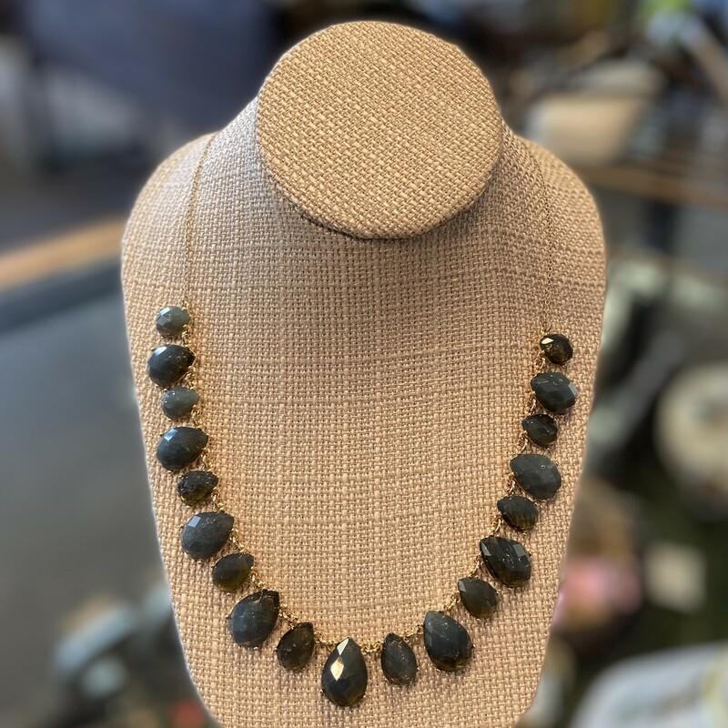 Gld/slate Jewel Necklace