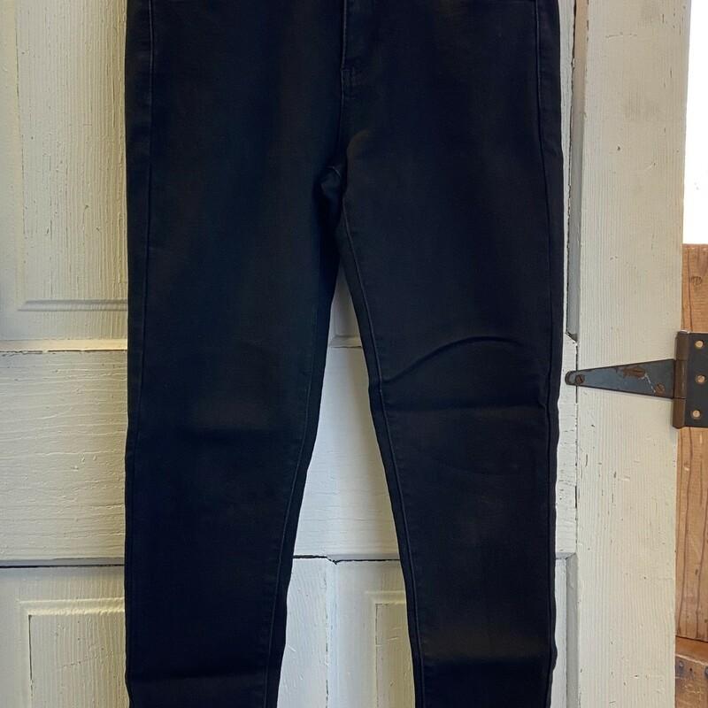 Blk Skinny Frayed Jeans