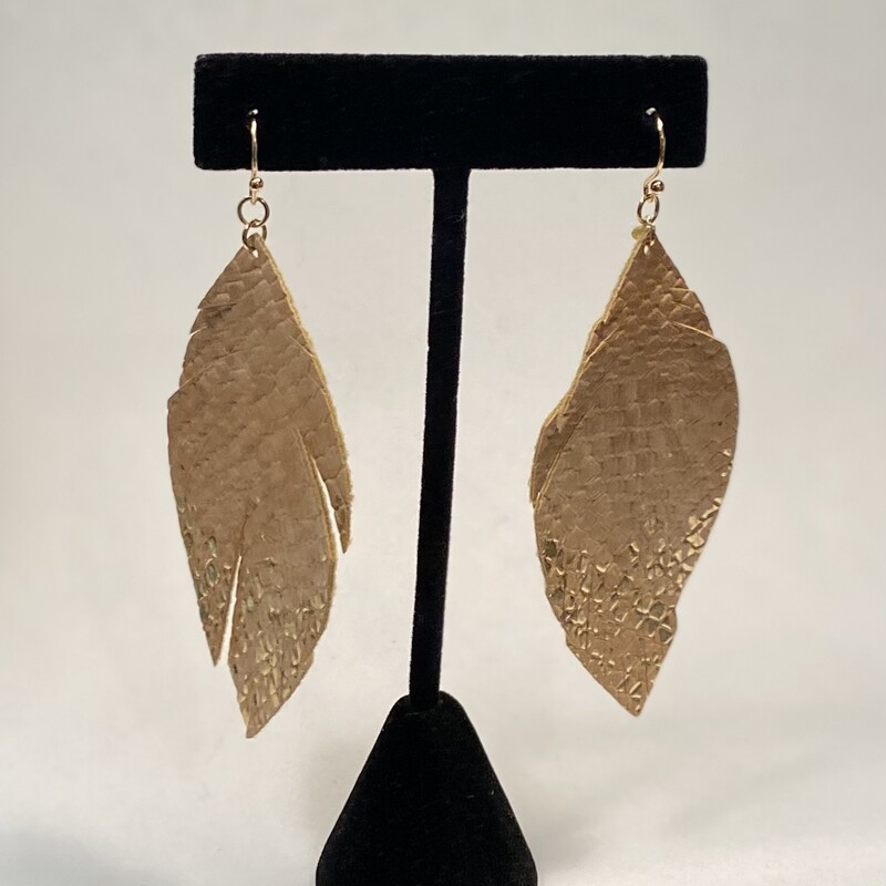 Blsh Gld Dipped Faux Leat