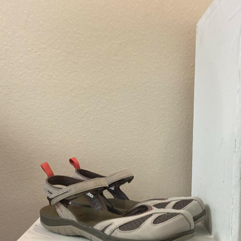 Tan Velcro Strap Sandal