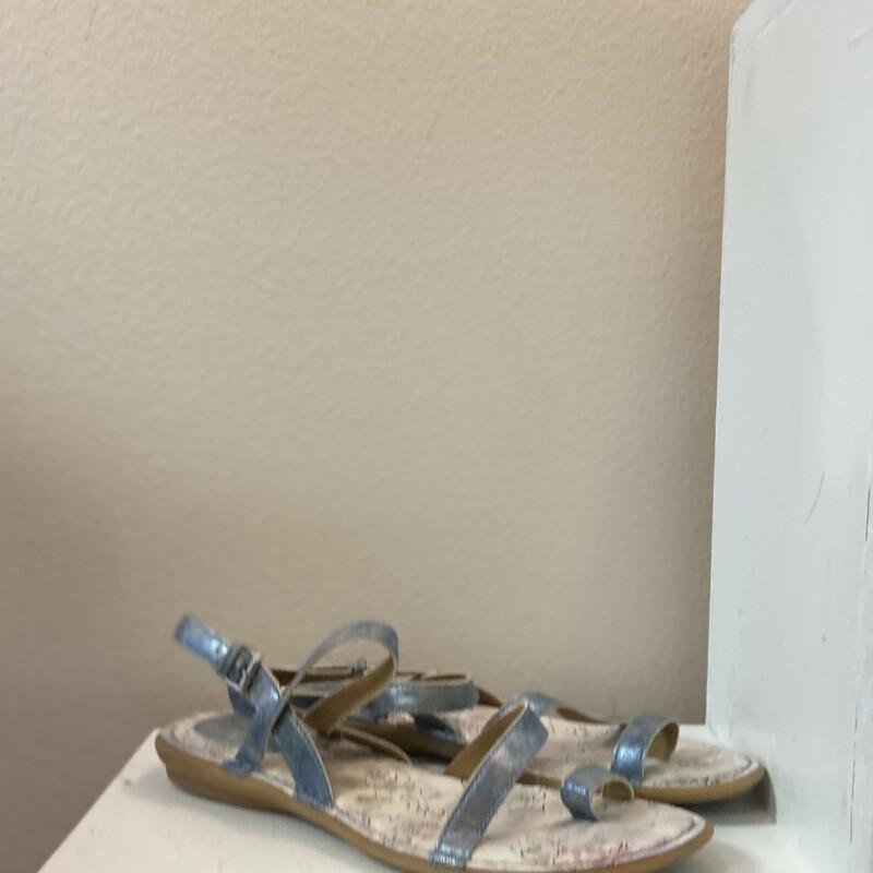 Blu Metallic Sandal