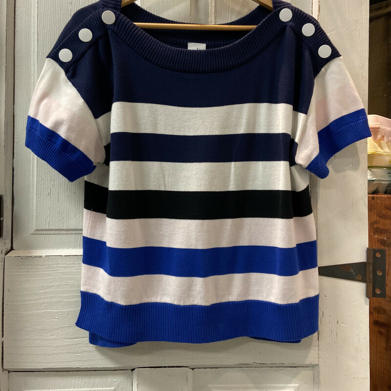 Nvy/cobalt Stripe Sweater Nvy/coba Size: M Ret $109