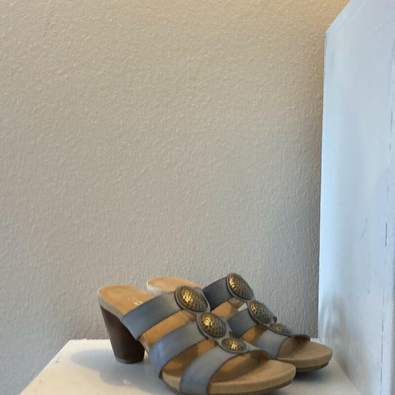 Blu Medal Leather Sandal