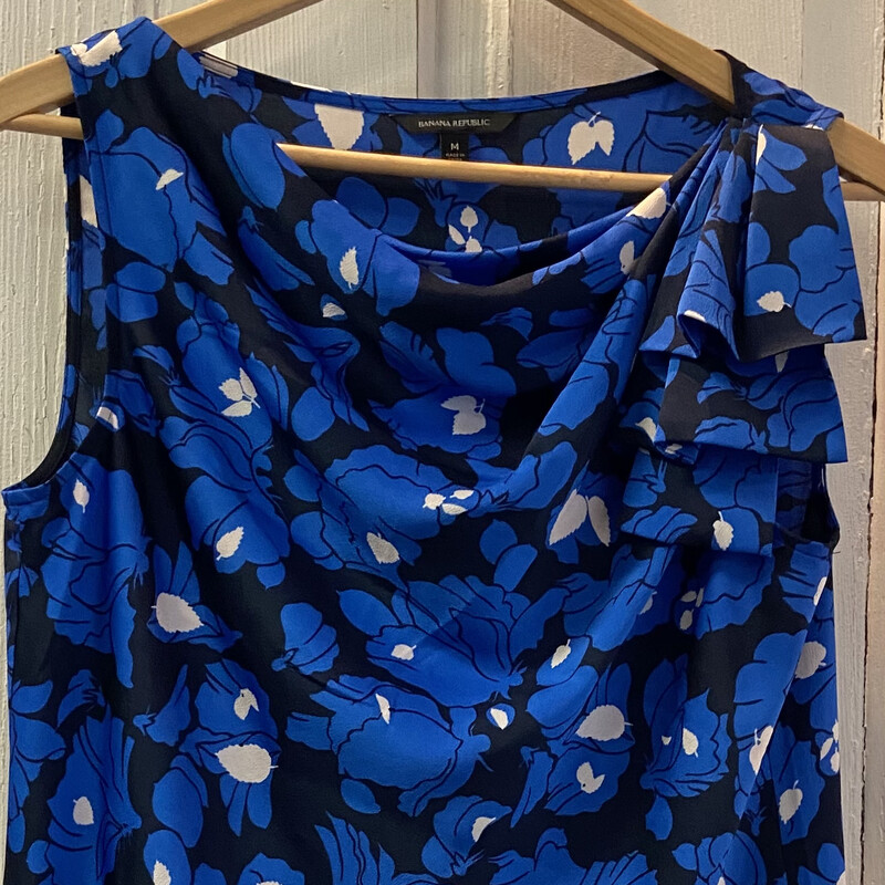 Blk/blue Floral Tie Slvle