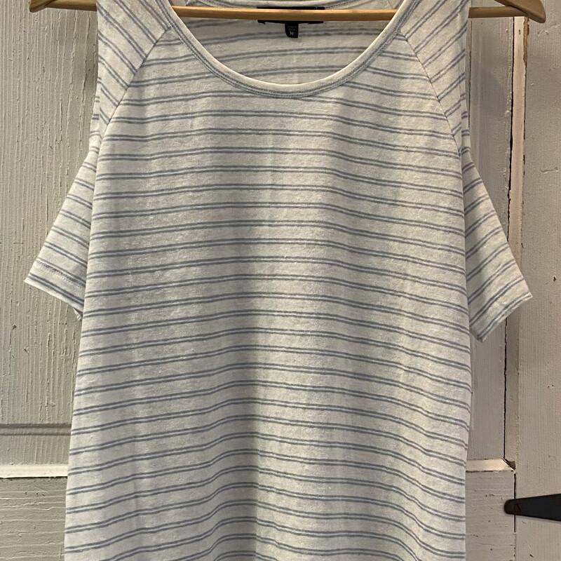 Wht/blu Stripe Linen Cld