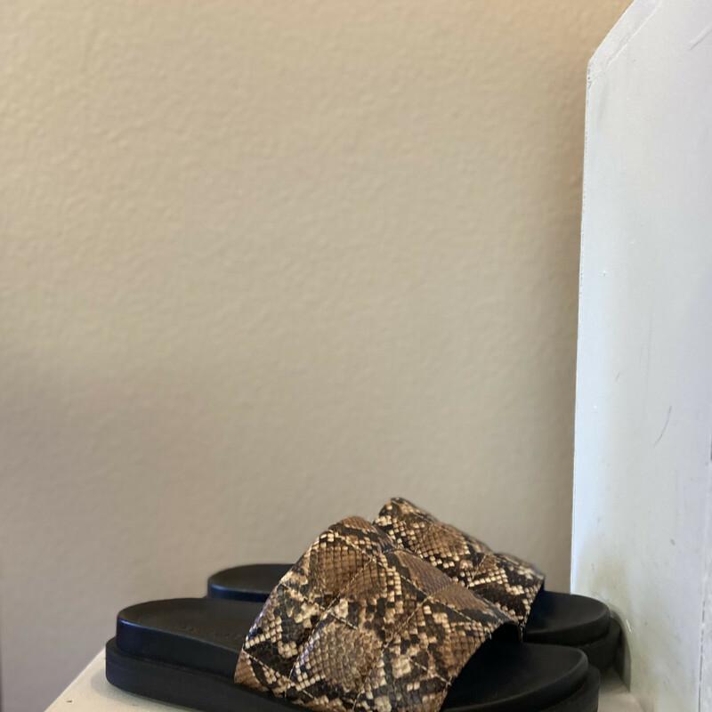 Snake Prnt Leather Platfo
