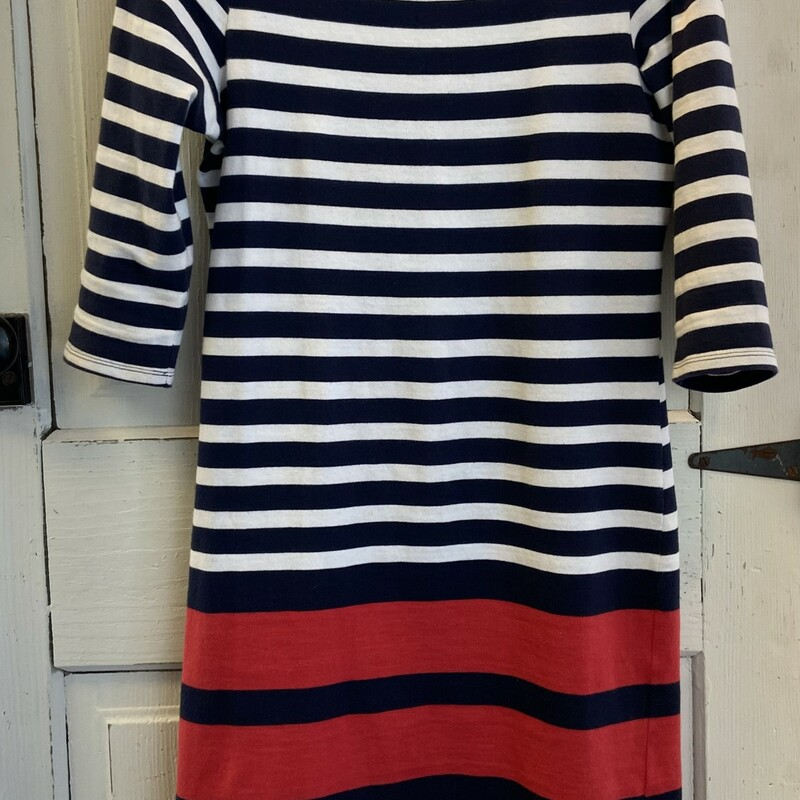 Nvy/wh/Red Stripe Dress