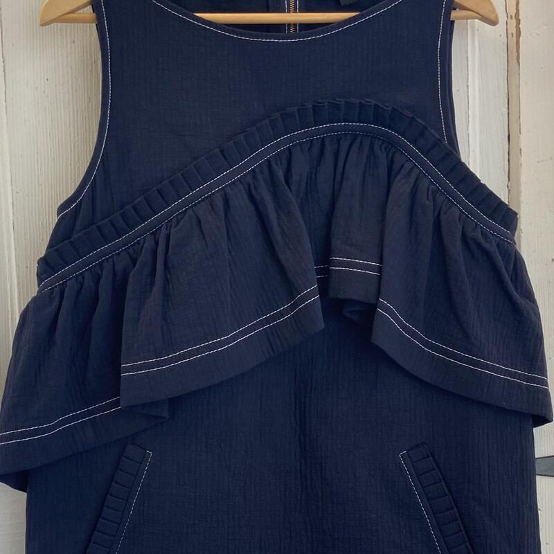 Nvy Ruffle Shift Dress