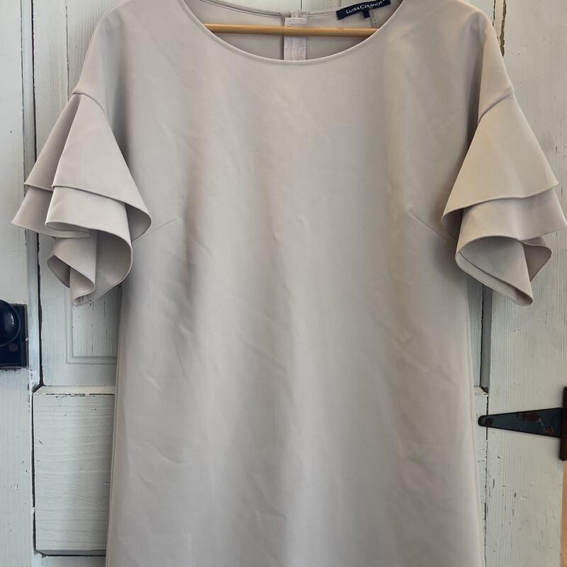 NWT Bone Ruffle Dress