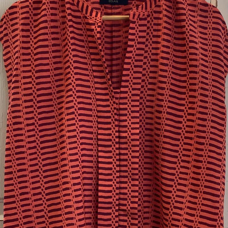 Coral/red Pat Dressy Top
