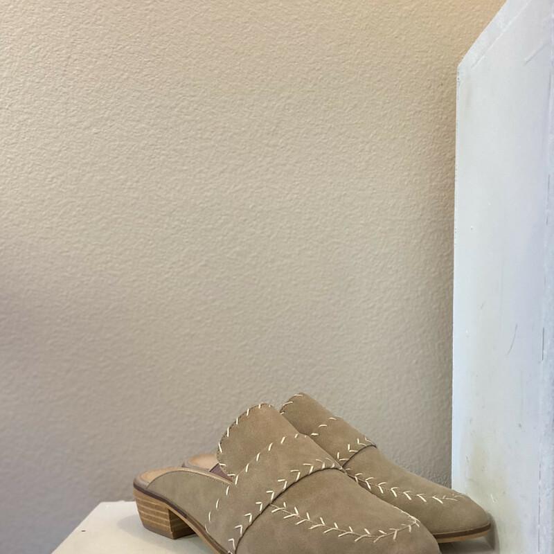 NEW Tan Leather Slides