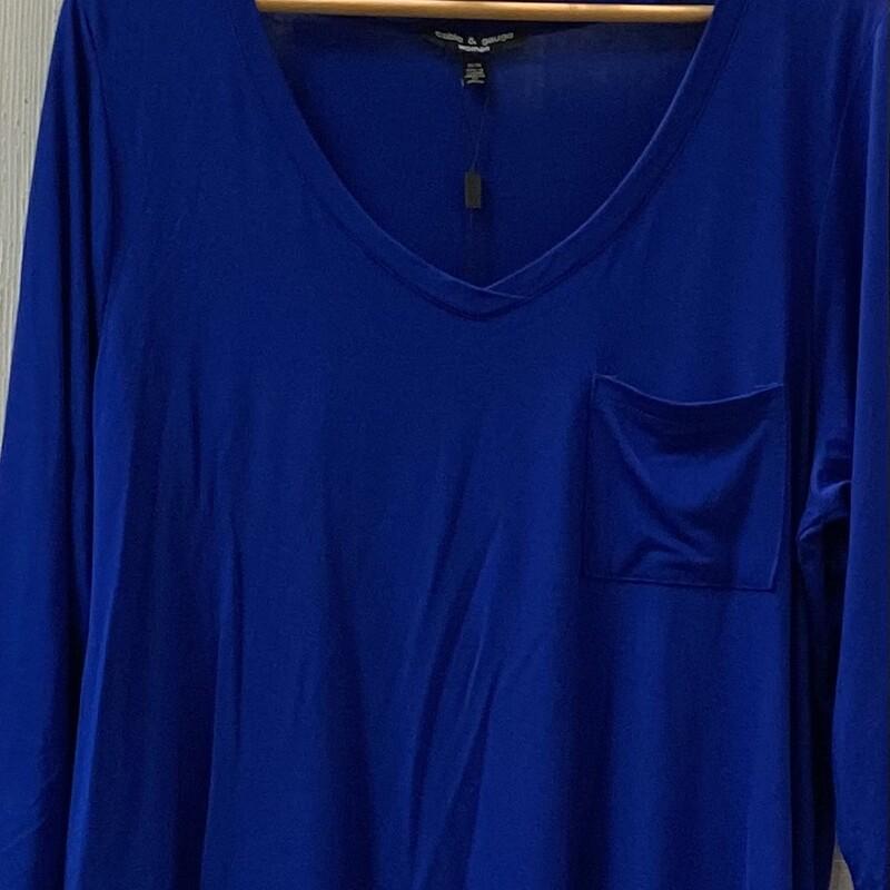 NWT Royal Blue 3/4 Tunic