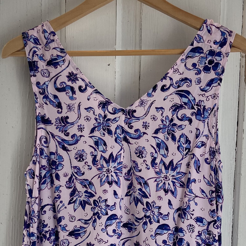 Purple Floral Tank Dress