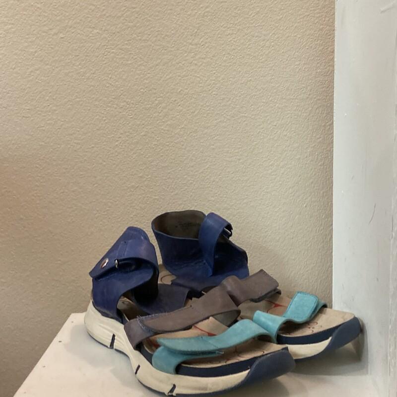 Blu/teal Leather Sandal