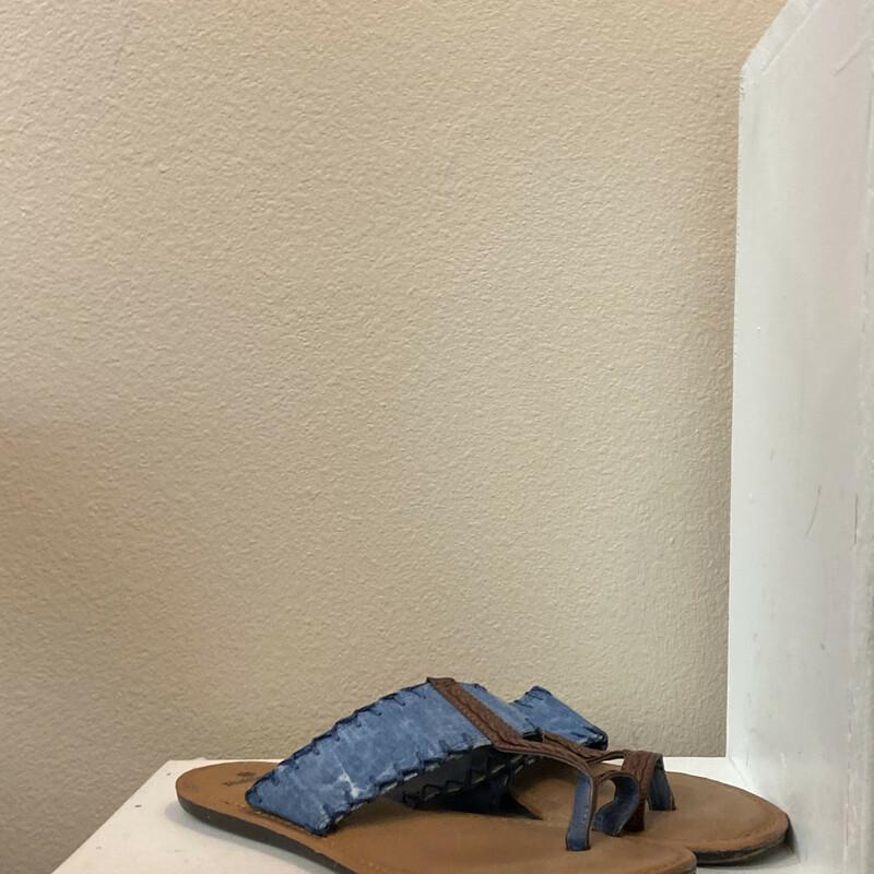 Brw/chambray Sandal