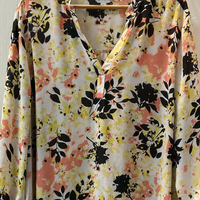 Crm/pch/yllow Flor Tunic