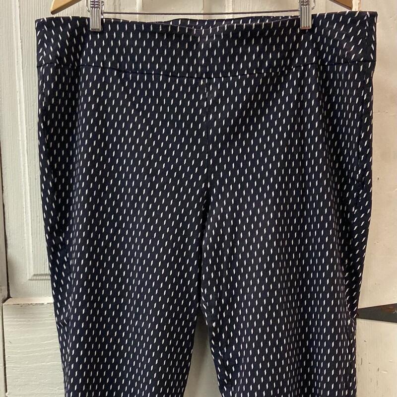 Drk Navy Pattern Pants