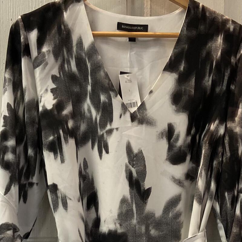 NWT Blk/crm Pat Dress