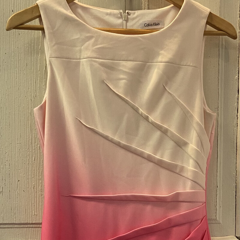 Pink Ombre Pleat Slvless
