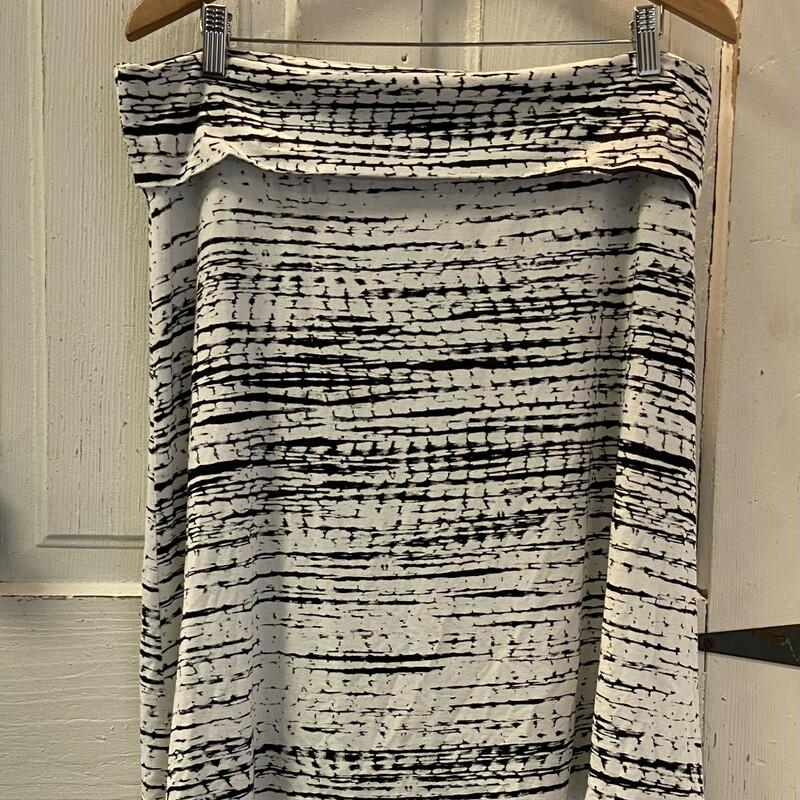Blk/wht Pat Jersey Skirt