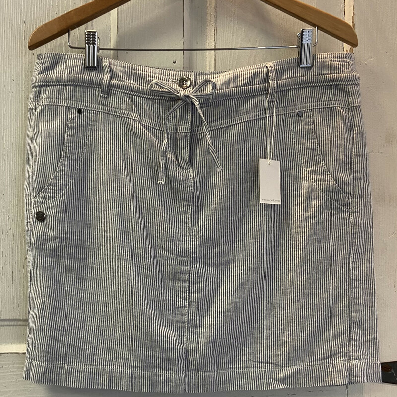 NWT Blu/wht Stripe Skirt