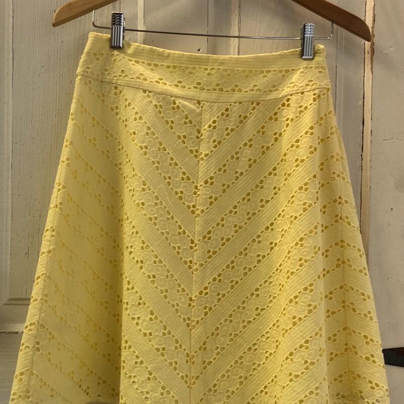 NWT Yllow Eyelet Skirt