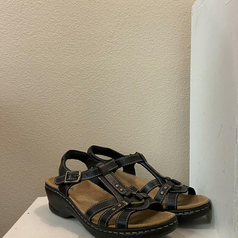 EUC Black Leather Sandal