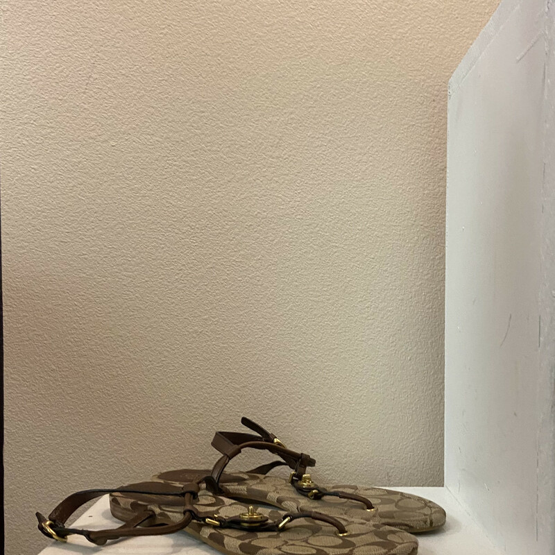 Brw Leather Canvas Sandal