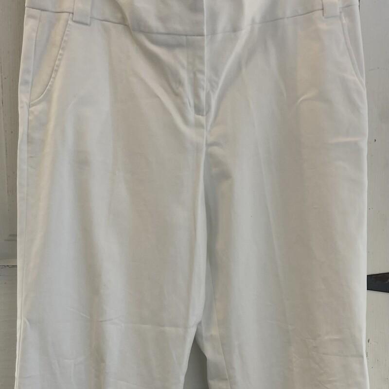 Wht Cuffed WL Pants
