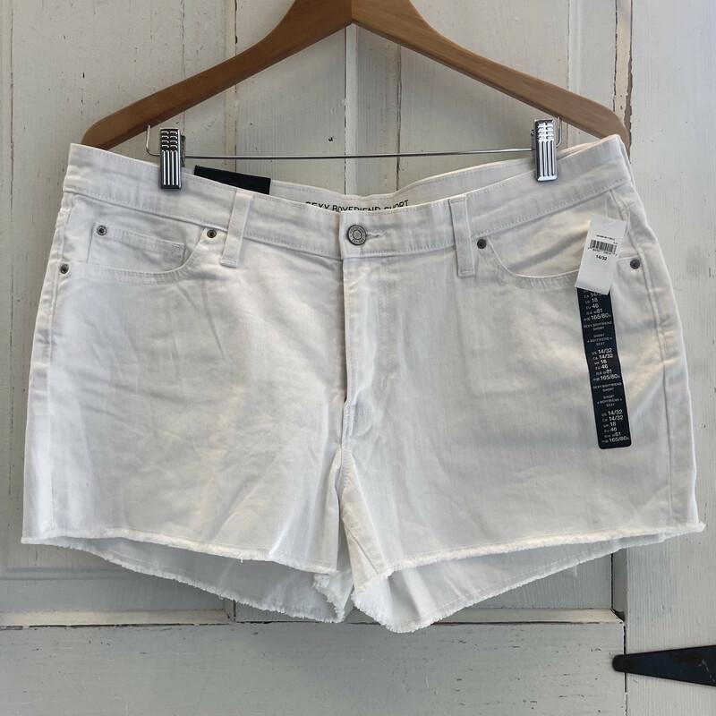 NWT White Denim Shorts