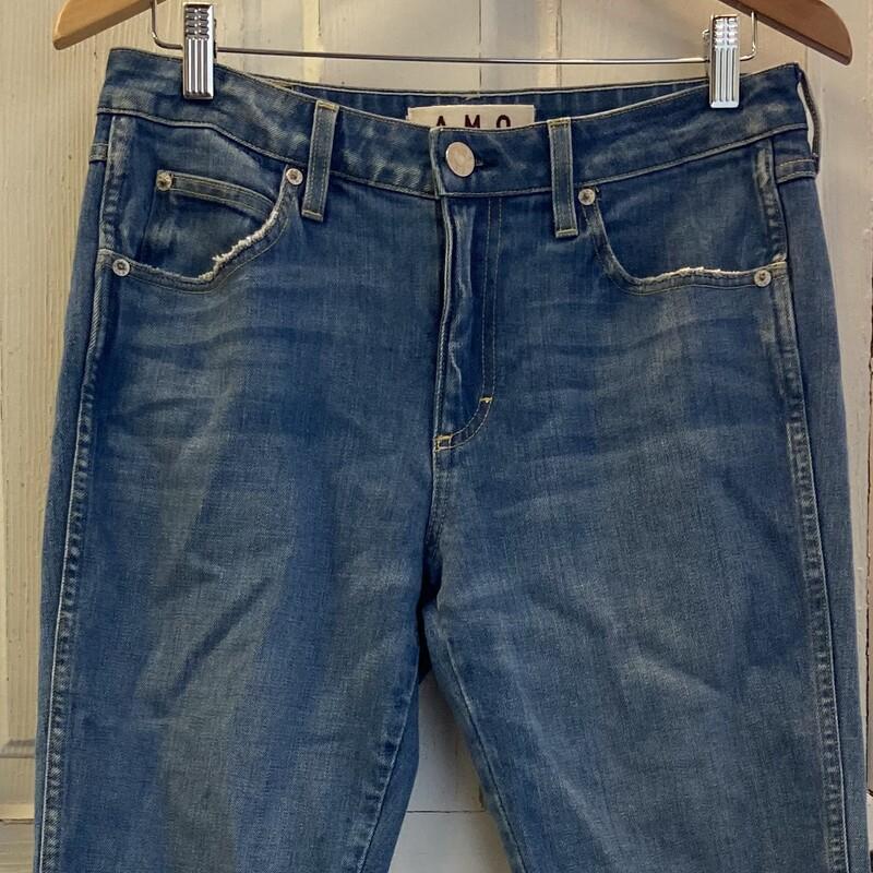 Denim Frayed Slit Jeans
