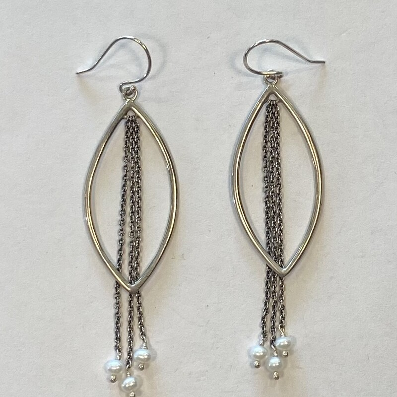 Sterl Cut Out Pearl Dangl