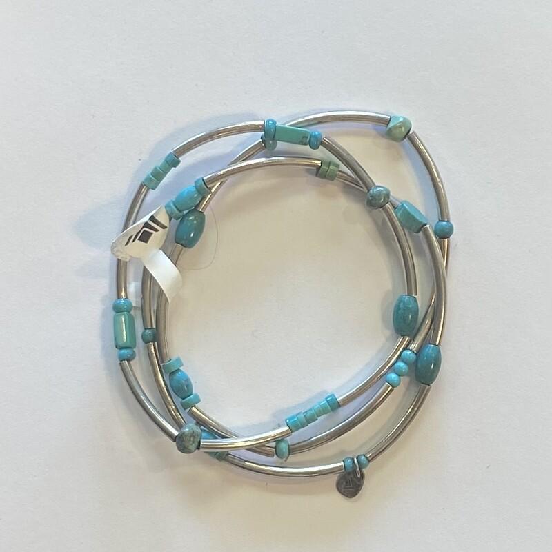 NWT 3 Sterl Turq Bracelet