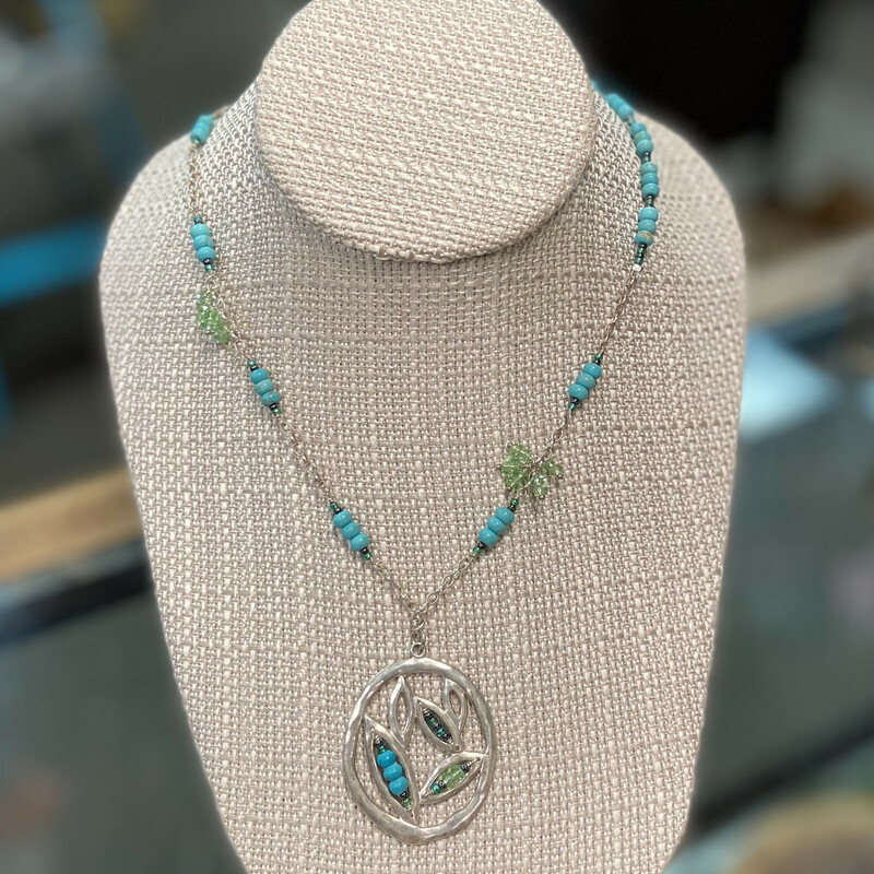 NWT Sterl Turquoise Neckl