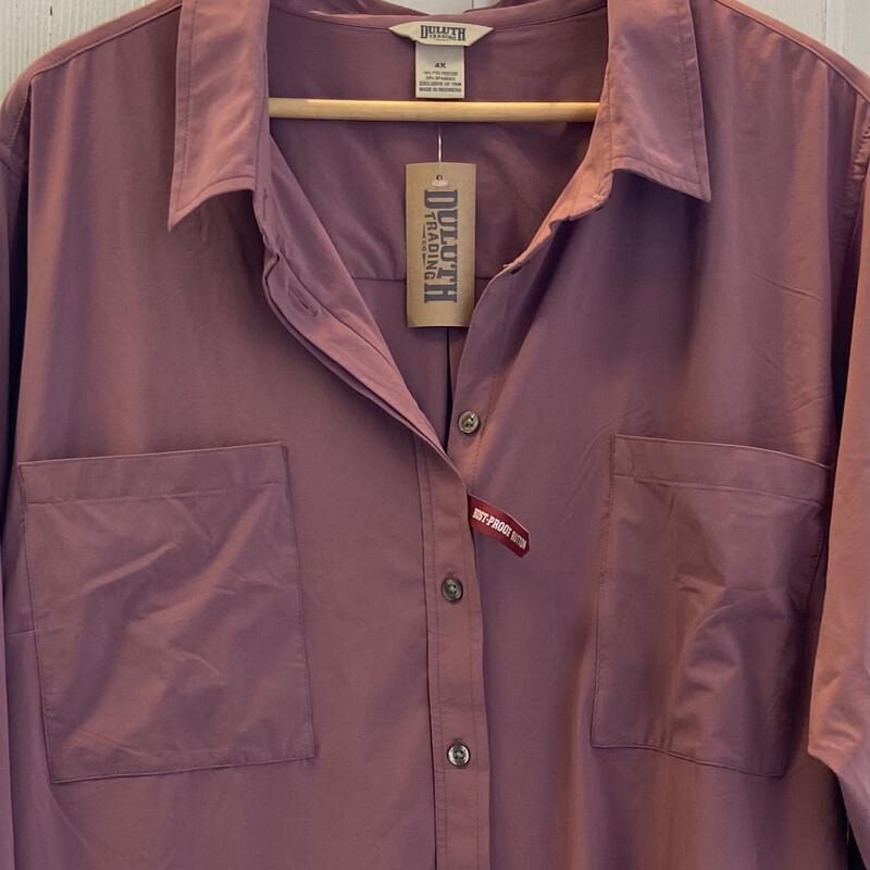 NWT Mauve Button Shirt