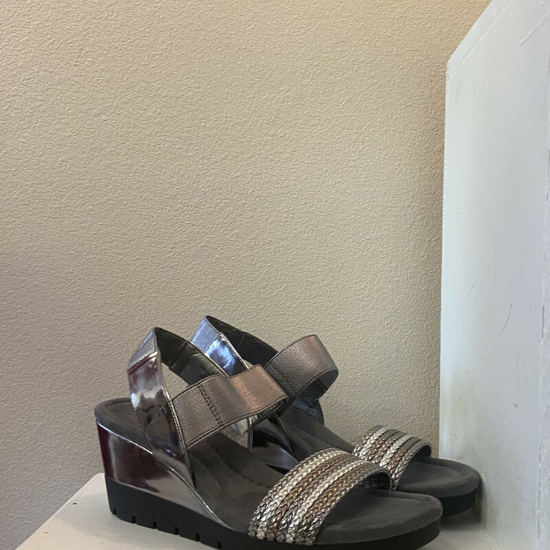 Grey/slv Braided Sandal