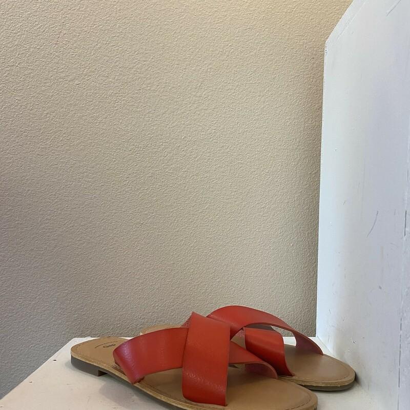 Red Crisscross Sandal
