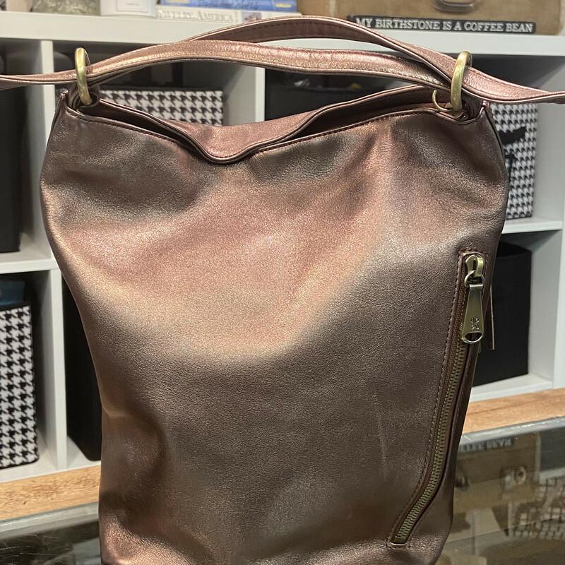 Bronze Leather Bckpack Pu