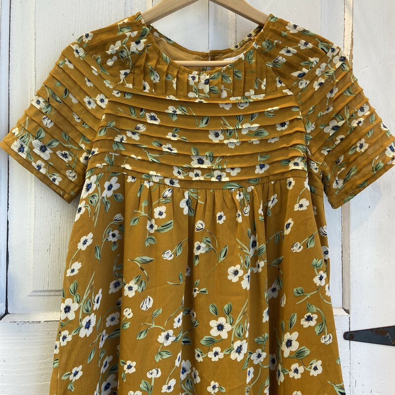 Yllow Gold Floral Dress