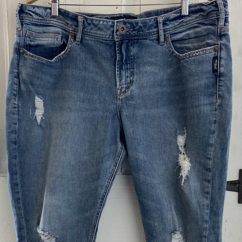 Den Distress Crop Jeans