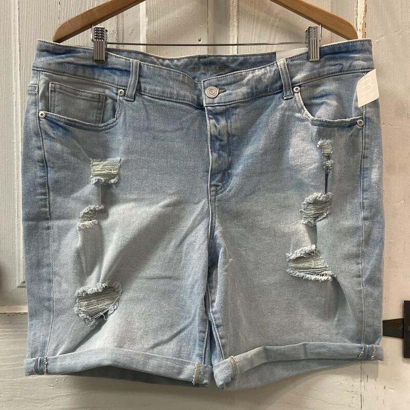 NWT Denim Distress Shorts