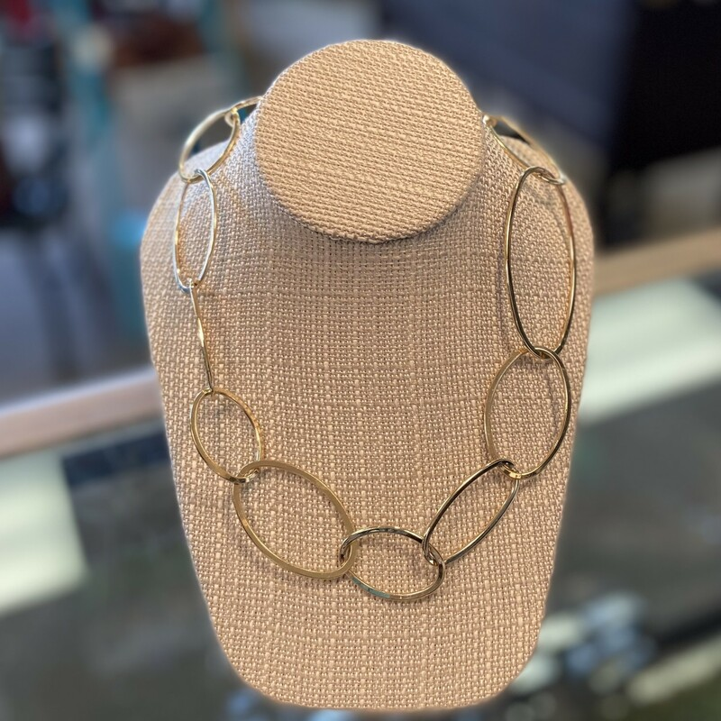 Long Gold Link Necklace