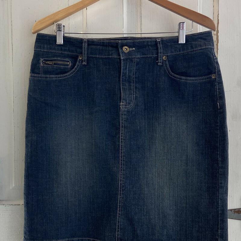 Drk Denim Mini Skirt