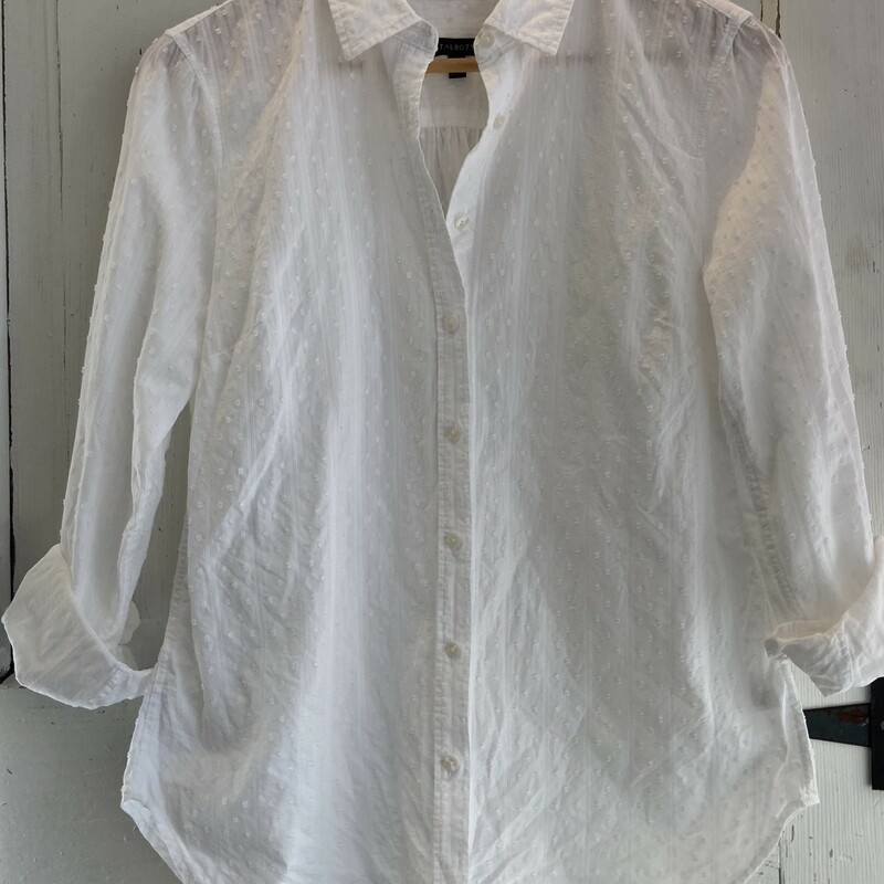 White Nub Button Shirt